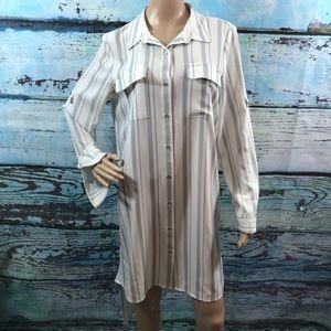 Calvin Klein Shirt Dress, Size Medium